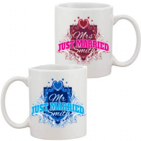 Personalised Mr & Mrs Mugs 2